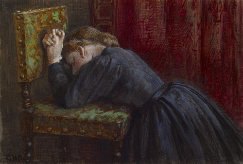 Art Prints of Woman Kneeling in Prayer by George Henry Boughton