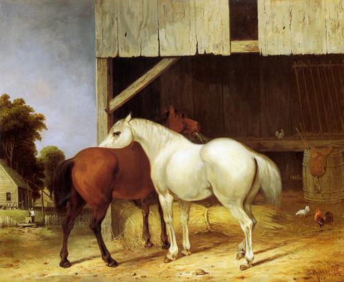 Art Prints of Barnyard Scene by George Henry Durrie