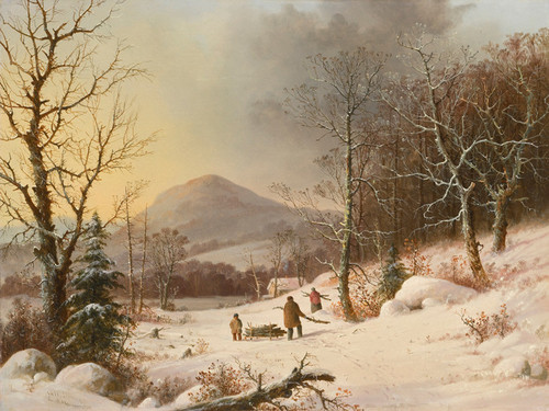 Art Prints of Gathering Wood by George Henry Durrie