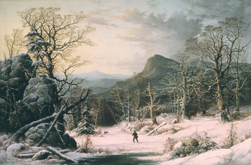 Art Prints of Hunter in Winter Wood by George Henry Durrie