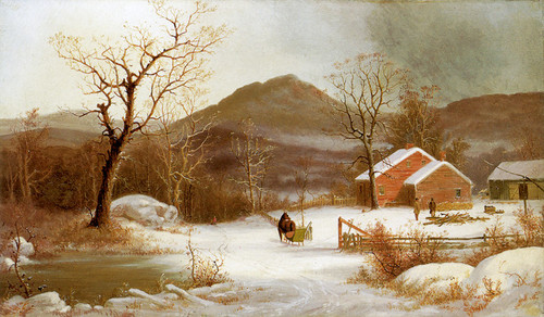 Art Prints of Winter Landscape by George Henry Durrie