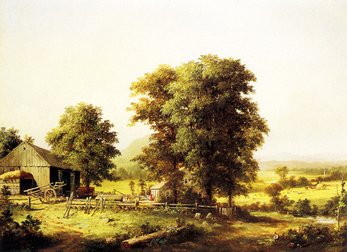 Art Prints of Summer Farm Scene by George Henry Durrie
