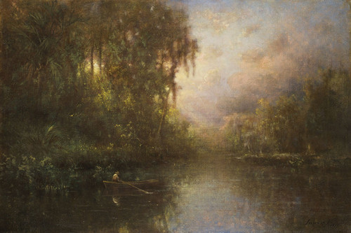 Art Prints of Fishing near Tarpon Springs by George Inness