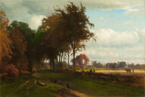 Art Prints of Landscape with Cattle by George Inness