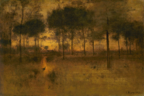 Art Prints of The Home of the Heron II by George Inness