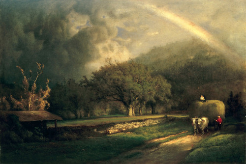 Art Prints of The rainbow in the Berkshire Hills by George Inness