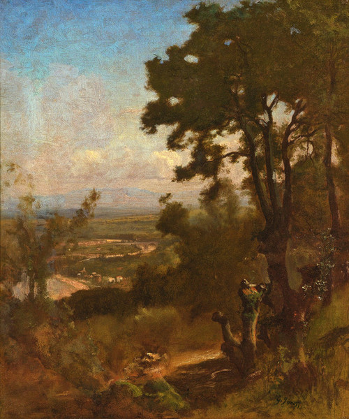 Art Prints of Valley Near Perugia by George Inness