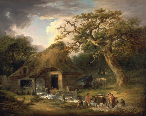 Art Prints of The Old Water Mill by George Morland