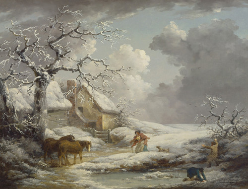 Art Prints of Winter Landscape by George Morland