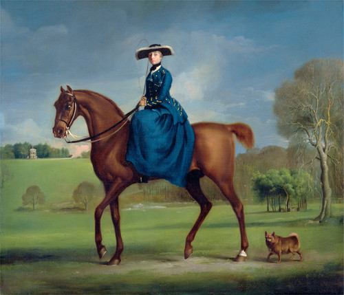 Art Prints of Countess of Coningsby of the Charlton Hunt by George Stubbs