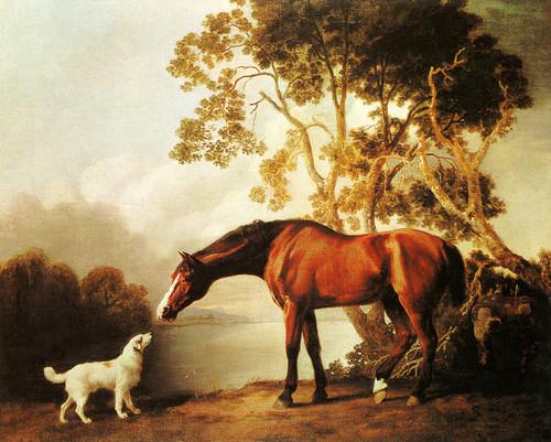 George Stubbs A Saddled Bay Hunter Vintage Fine Art Print