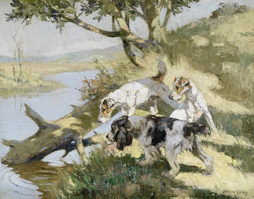 Art Prints of A Rise, Terriers by George Vernon Stokes