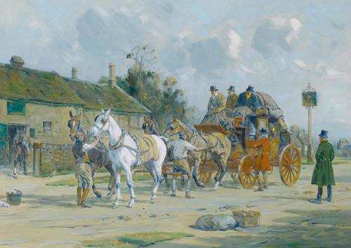 Art Prints of At the Post House by George Wright