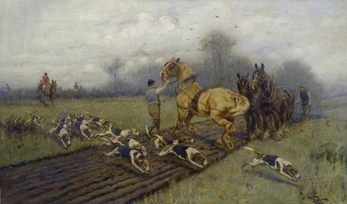 Art Prints of Crossing the Line of the Plow by George Wright