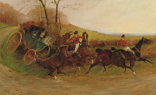 Art Prints of A Coaching Incident by George Wright