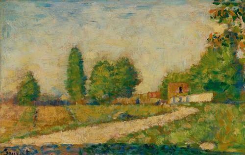 Art Prints of Au Bord du Village by Georges Seurat
