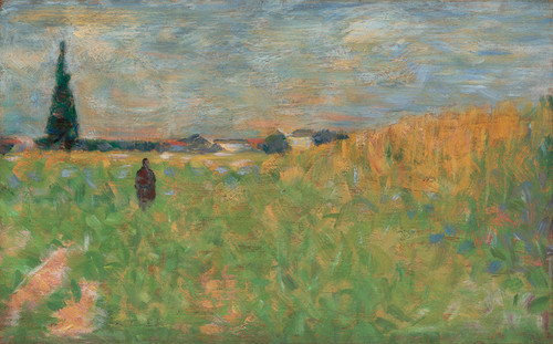 Art Prints of A Summer Landscape, 1883 by Georges Seurat