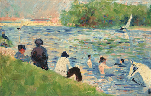Art Prints of Bathers, Study for Bathers at Asnieres by Georges Seurat