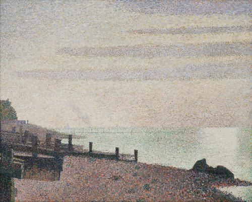 Art Prints of Evening, Honfleur by Georges Seurat