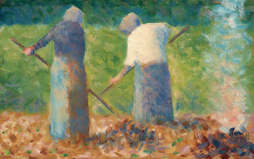 Art Prints of Haymakers at Montfermeil, 1882 by Georges Seurat