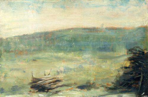 Art Prints of Landscape at Saint Ouen by Georges Seurat
