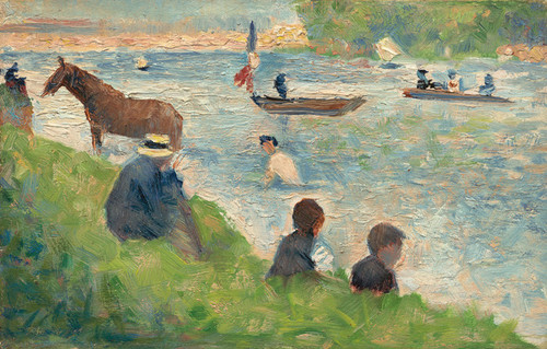 Art Prints of Horse and Boats by Georges Seurat