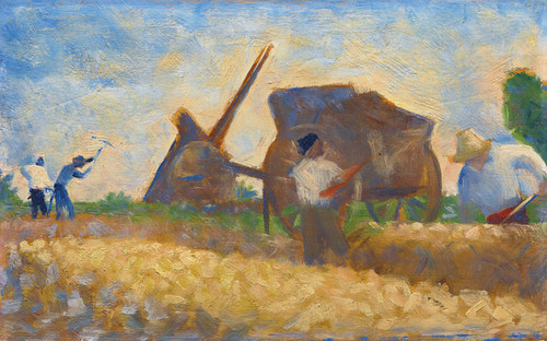 Art Prints of Les Terrassiers by Georges Seurat