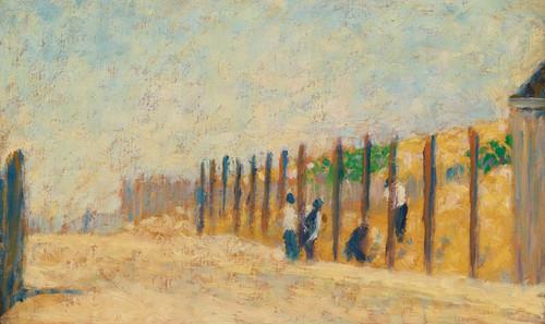 Art Prints of Ouvriers Enfoncant des Pieux by Georges Seurat