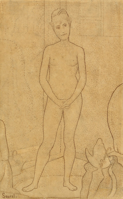 Art Prints of Study After the Models by Georges Seurat