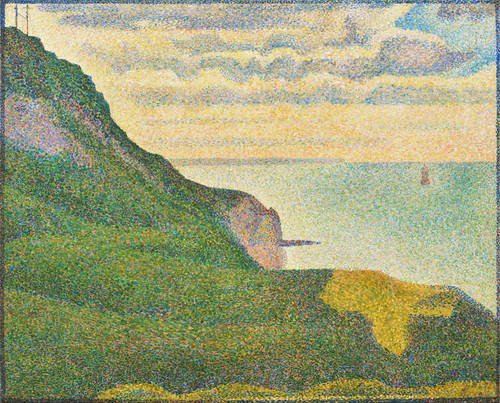 Art Prints of Seascape at Port en Bessin, Normandy, 1888 by Georges Seurat
