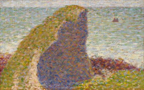 Art Prints of Study for Le Bec du Hoc Grandcamp by Georges Seurat