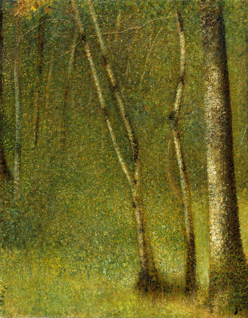 Art Prints of The Forest at Pontaubert by Georges Seurat