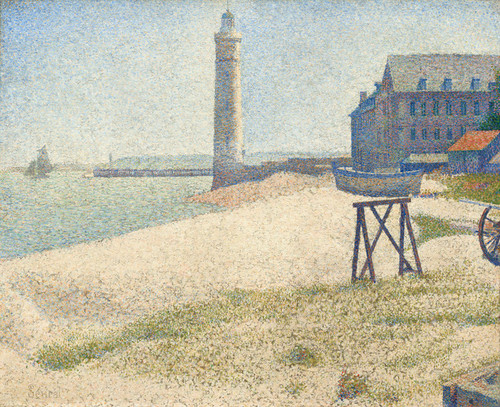 Art Prints of The Lighthouse at Honfleur, 1886 by Georges Seurat