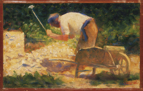 Art Prints of The Stone Breaker by Georges Seurat