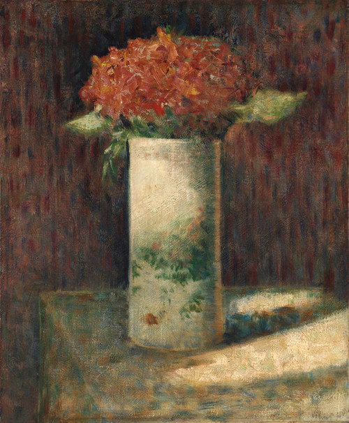 Art Prints of Vase of Flowers by Georges Seurat