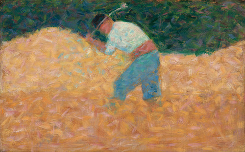 Art Prints of The Stone Breaker, 1882 by Georges Seurat