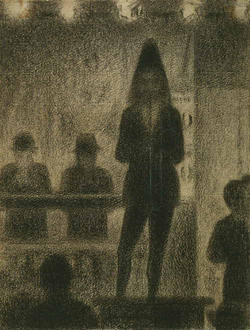 Art Prints of Trombonist, Study for Circus Side Show by Georges Seurat