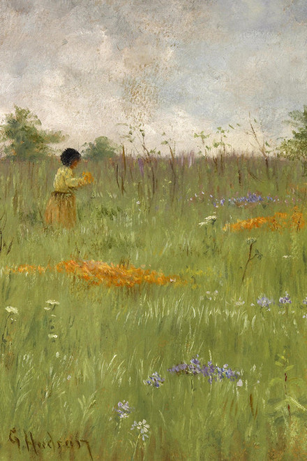 Art Prints of Girl in a Field of Poppies and Lupine by Grace Carpenter Hudson