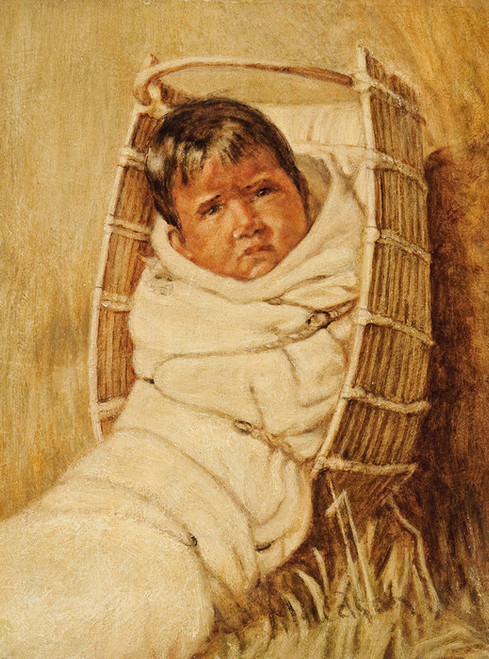 Art Prints of Annie, White Blanket, 1900 by Grace Carpenter Hudson