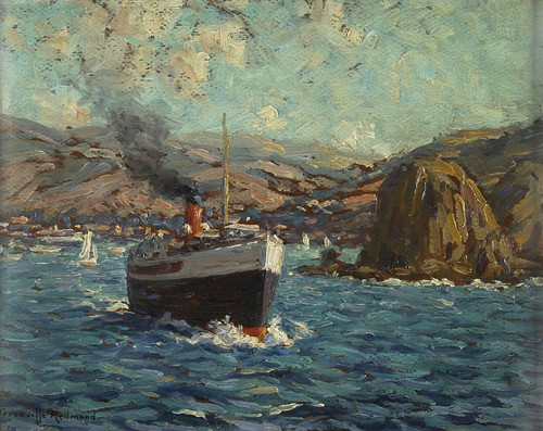 Art Prints of Steamer Leaving Avalon Catalina Island by Granville Redmond