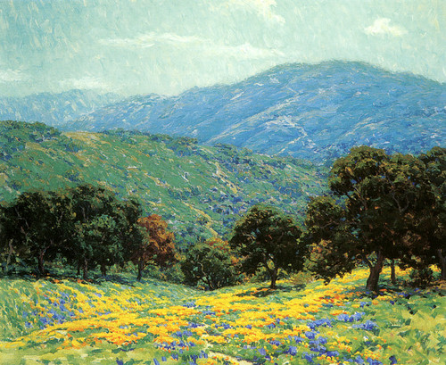 Art Prints of Flowers Under the Oaks by Granville Redmond