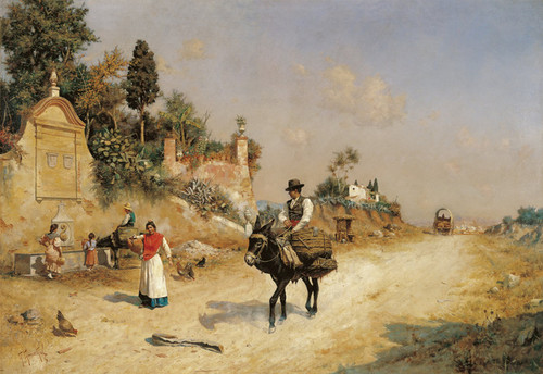 Art Prints of Near the Fountain by Guillermo Gomez Gil