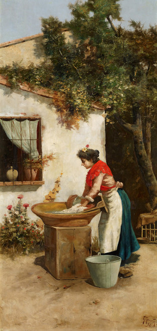 Art Prints of Washerwoman by Guillermo Gomez Gil