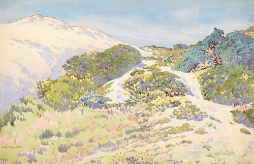 Art Prints of California Hills, 1918 by Gunnar Widforss