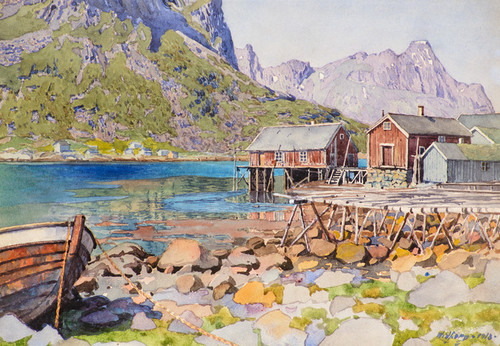 Art Prints of Fishing Docks by Gunnar Widforss