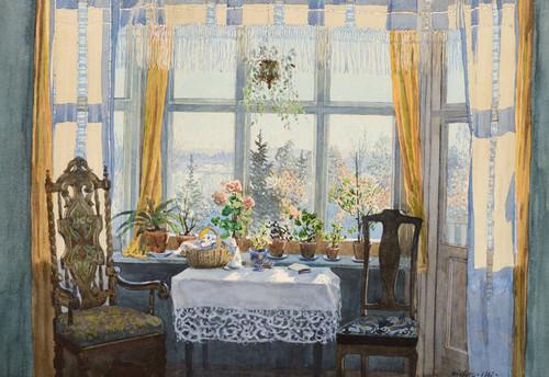 Art Prints of Interior Scene by Gunnar Widforss