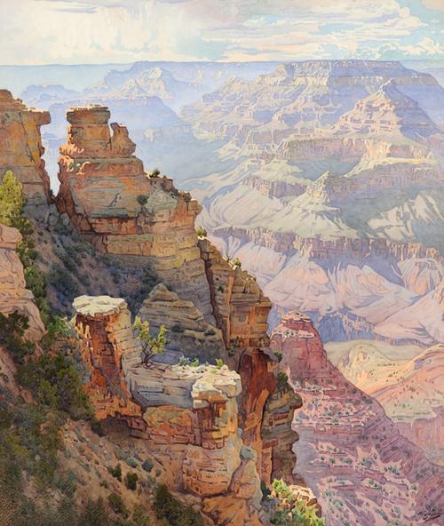 Art Prints of Yaki Point, Grand Canyon by Gunnar Widforss