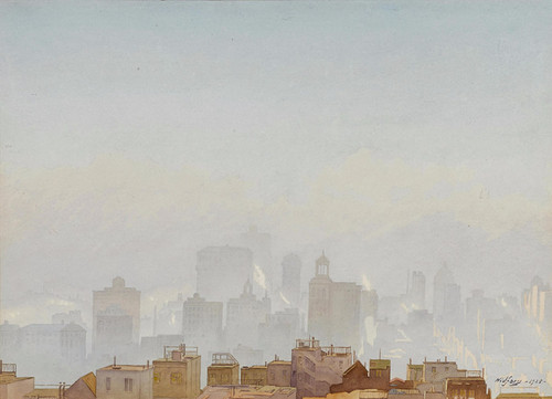 Art Prints of San Francisco in the Fog by Gunnar Widforss