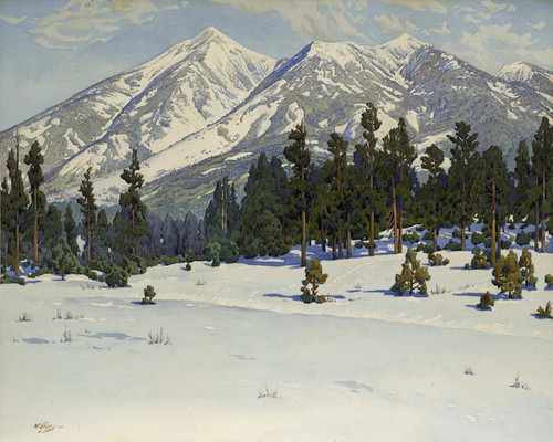 Art Prints of San Francisco Peaks, Arizona by Gunnar Widforss