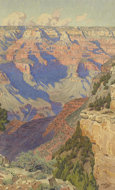 Art Prints of View into the Grand Canyon by Gunnar Widforss